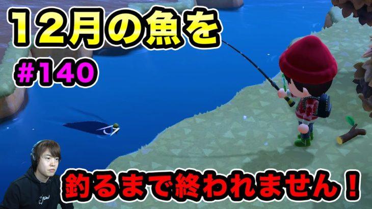 【あつまれどうぶつの森】12月に釣れるようになった魚を釣れるまで終われません!#140