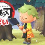 【ゲーム遊び】あつまれ どうぶつの森 今度は我妻善逸の衣装で鬼滅の刃っぽいことをしてみたw【アナケナ】あつ森 Animal Crossing: New Horizons